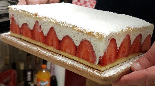 Le fraisier à la fève de tonka